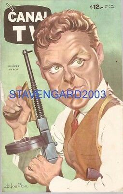 ROBERT STACK CARICATURE  Argentina  poster 1960´s
