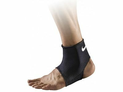 Nike Pro Combat Ankle Compression Support Sleeve 2.0 (Black/White, XL)