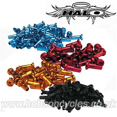 Halo Coloured Alloy Spoke Nipples 40 x 12mm BMX MTB Bike Cycle Wheel Building