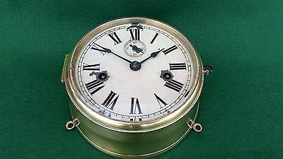 ANTIQUE 1880s SETH THOMAS SOLID BRASS SHIPS CLOCK IN EXCELLENT WORKING ORDER
