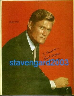 CHUCK CONNORS The Rifleman SIGNED POSTER Argentina 60's