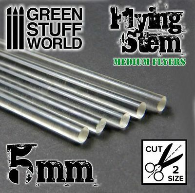 Acrylic Rods - Round 5 mm CLEAR - Flying Stem Medium Flyers Warhammer