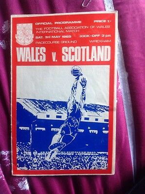 WALES v SCOTLAND BRITISH CHAMPIONSHIP 1969 RACECOURSE GROUND WREXHAM