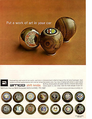 1967 Amco Shift Knob ~ Original Print Ad
