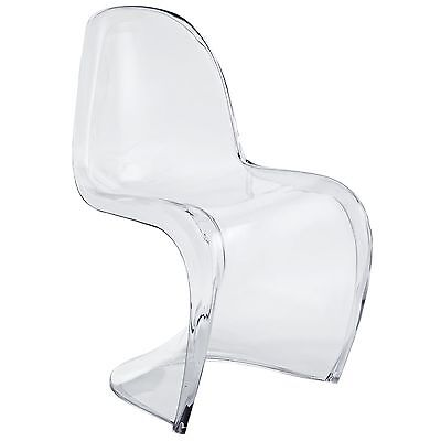 LexMod Slither Dining Side Chair, Clear FREE SHIPPING (BRAND NEW)
