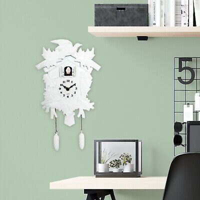 Walplus White Cuckoo Clock DIY Art Home Office Restaurant Living Room Decoration