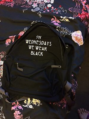 On Wednesdays We Wear Black Ahs American Horror Story Rucksack Backpack