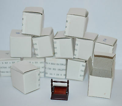 Joblot Of 14  12Th Scale Mahogany Victorian Maids Cleaning Boxes Unused