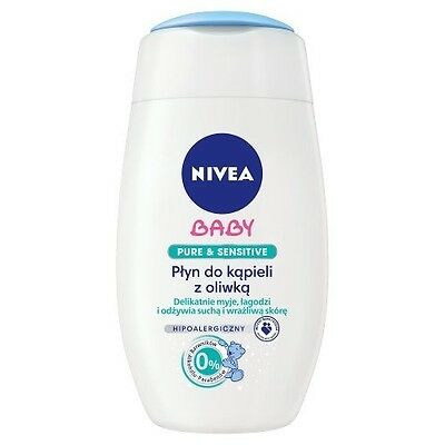 Nivea Baby Pure Sensitive Bathing Oil with Olive 200 ml Plyn do Kapieli Z Oliwka