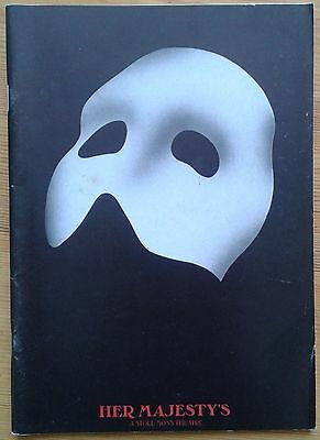 The Phantom of the Opera programme Her Majesty's Theatre 1989 Jan Hartley-Morris