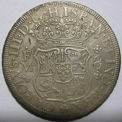 1771FM - Mexico/Spain - 8 Reales Genuine Silver Coin