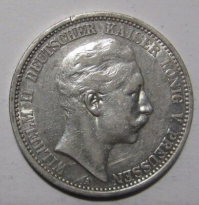 1907A - 2 Mark  Silver Coin from Germany/Prussia