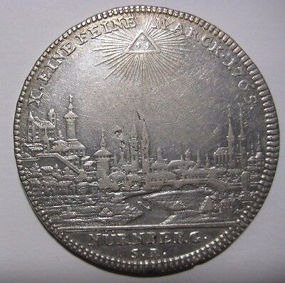 1765 - Germany/Nurnberg - 1 Thaler  Silver Coin