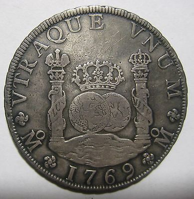 1769MF - Mexico/Spain - 8 Reales Genuine Silver Coin