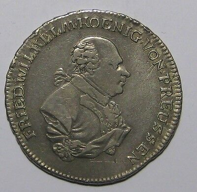 1794- Brandenburg-Ansbach-Bayeruth-Prussia/Germany-2/3 Thaler Silver Coin