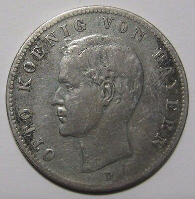 1899D - 2 Mark  Silver Coin from Germany/Bavaria