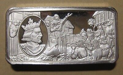 Franklin Mint - British Monarchy - Sterling Silver Bar - 65.9 Gram #8