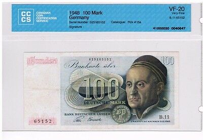 1948 - West Germany - 100 Mark Banknote - VF