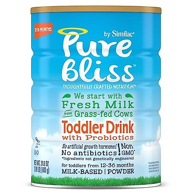 Pure Bliss by Similac Toddler Drink with Probiotics Starts with Fresh Milk fr...