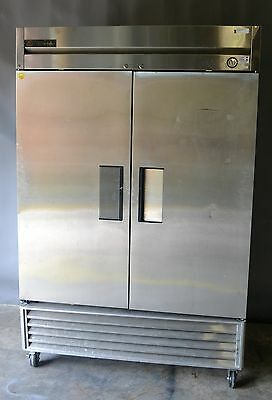 Used True T-49F Two Section Solid Door Reach In Freezer, Excellent, Free Shippin