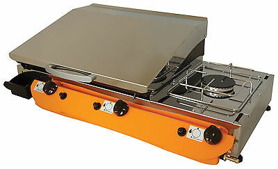 Lpg Griddle Barbecue Hot Plate 80x40 cm With Cooker 3kw Professional
