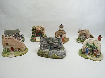 Lot of 7 Lilliput Lane Cottages and Sign Collectible Mini Houses Rare! S4 1.5