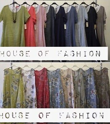 Wholesale joblot ladies italian Dresses Lagenlook  tunic Linen 2styles 12pcs mix