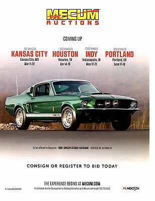 1967 Shelby Cobra Gt-500 428/335 Hp Auto / Dark Moss Green ~ Great Auction Ad