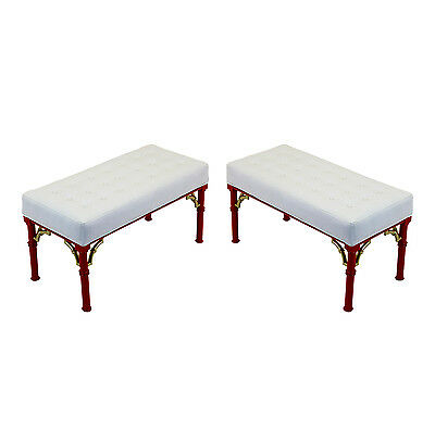 Pair of Mid-century Palm Beach Style Benches