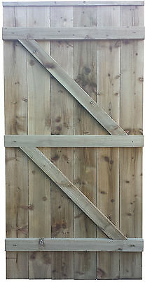 Wooden Bespoke Gate - Garden Timber Door - Solid Side Gates - MADE TO SIZE!!