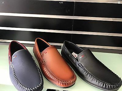 Wholesale Joblot Mens New Slip On Casual Boat Deck Loafers Driving Shoes 12 Pcs