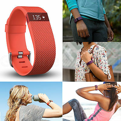 FITBIT Charger HR Wireless Activity Workout Sleep Heart Rate Monitor Wrist Band