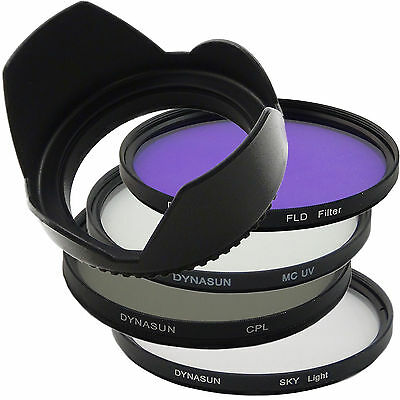 Kit Filtro Multicoated UV 55 mm + Polarizzatore CPL 55 mm +Sky +FLD +Paraluce