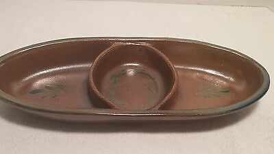 "Rowe Pottery Works, Cambridge WI  2007 Condiment Tray 13"" l x 5"" w x 1-3/4"" h"
