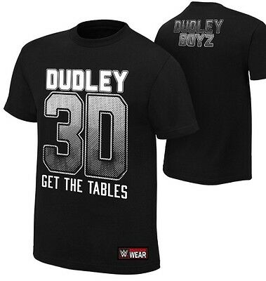 "Official WWE The Dudley Boyz ""Get The Tables"" Authentic T-Shirt Medium Youth"