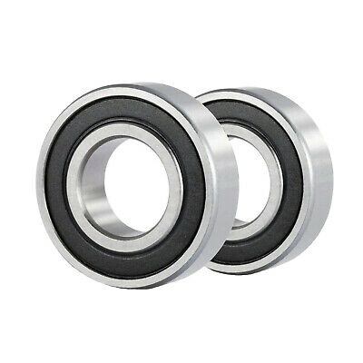 2 Pcs Premium 6802 2RS ABEC3 Rubber Sealed Deep Groove Ball Bearing 15x24x5mm