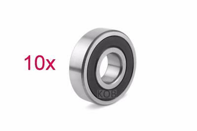 10 Pcs Premium 6802 2RS ABEC3 Rubber Sealed Deep Groove Ball Bearing 15x24x5mm