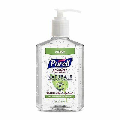 PURELL NATURALS - Advanced Hand Sanitizer - 12 oz Pump Bottle Pack of 12