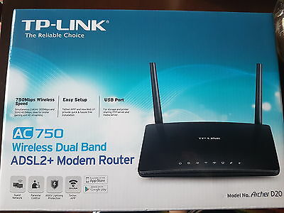 Adsl Modem Router Wirless Dual Band Ac 750 Tp-Link
