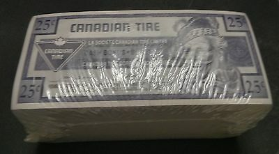 """""""UNC Unopened"""" 1992 One Brick 500 Canadian Tire Money 25 Cents """"9900455500"""""""