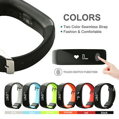 Fitness Sports Smart Watch Wrist Band Blood Pressure Heart Rate Monitor Lot IP67