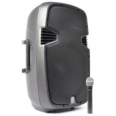 """Skytec Spj-1500A Active 38Cm (15"""") Pa Speaker 800W Vhf Aux Microphone Included"""