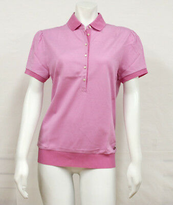 Salvatore Ferragamo Pink Button Up Polo Shirt 11-8546PK Medium