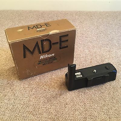 Nikon MD-E MDE Motor Drive Winder Grip for EM FG FG-20 Boxed Excellent