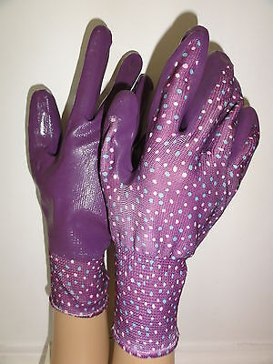 Briers Seed & Weed ladies gardening work Spring purple medium gloves summer gift