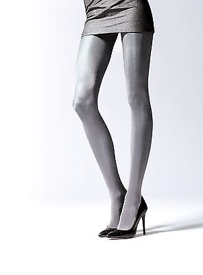 Alluring Silver Glossy Metallic Party Evening Prom Thicker Tights Pantyhose T45
