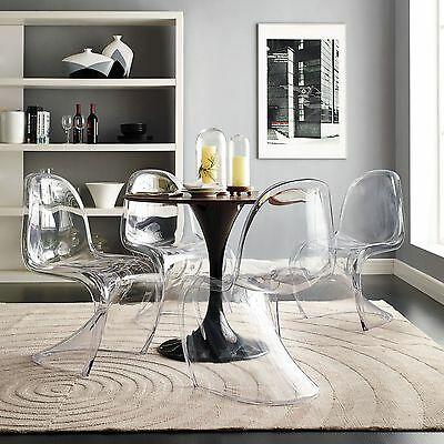 LexMod Slither Dining Side Chair, Clear, Set of 4 FREE SHIPPING (BRAND NEW)