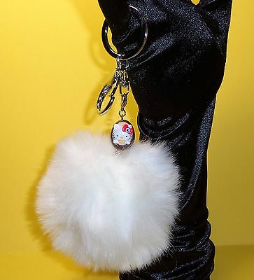 **USA Seller**  Hello Kitty Sanrio Iron Egg w/Crystal on Key Ring & Lobster