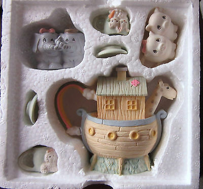 "1996 Precious Moments ""NOAH'S ARK"" Mini Tea Set  #270121  NEW & IN ORIGINAL BOX"