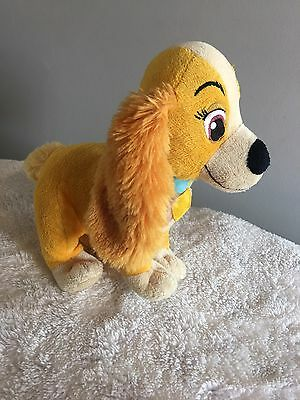 """Disney Store Exclusive Lady & The Tramp LADY Soft Toy Plush 8"""""""